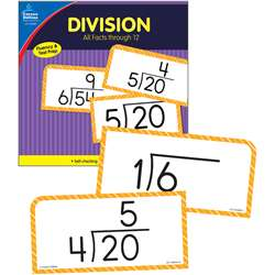 Division Facts Thru 12 Flash Cards, CD-134056