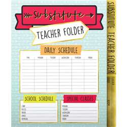 Aim High Substitute Teacher Folder, CD-136020