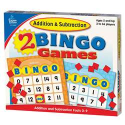 Addition & Subtraction Bingo By Carson Dellosa