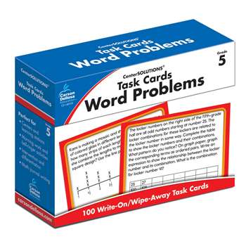 Task Cards Word Problems Gr 5, CD-140105