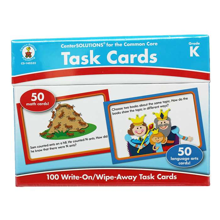 Center Solutions Task Cards Gr K By Carson Dellosa