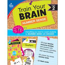 Train Your Brain Number Sense Lvl 2, CD-149017