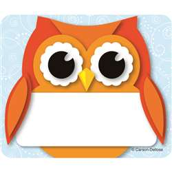 Colorful Owl Name Tags By Carson Dellosa