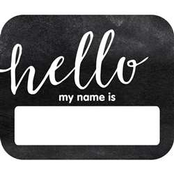 Industrial Chic Hello Name Tags School Girl Style, CD-150063