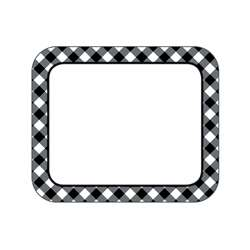 Black & White Gingham Name Tags Woodland Whimsy, CD-150069