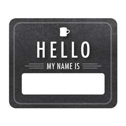 Chalkboard Hello Name Tags Industrial Cafe, CD-150074