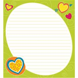 Bright Hearts Shape Notepad Gr Pk-8, CD-151087