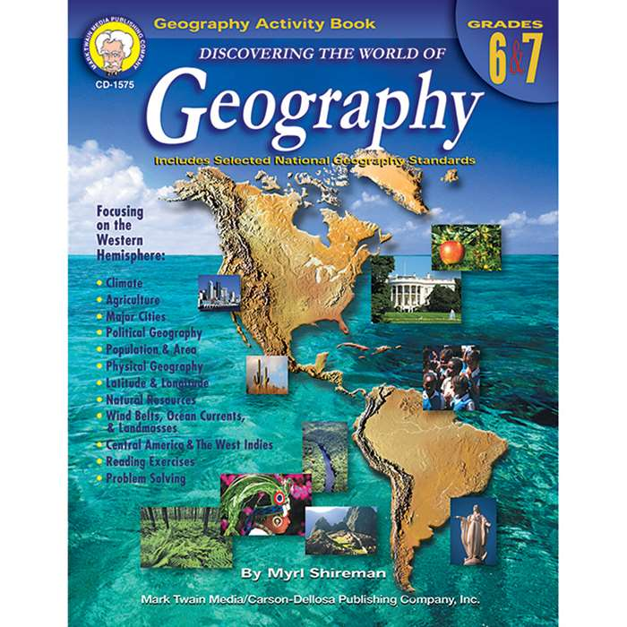 Discovering The World Of Geography Gr 6-7 By Carson Dellosa
