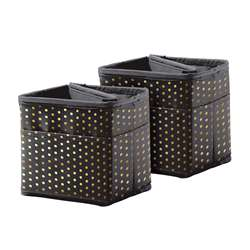 Tabletop Storage Black with Gold Polka Dots, CD-158183