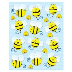 Bees Shape Stickers 72Pk By Carson Dellosa