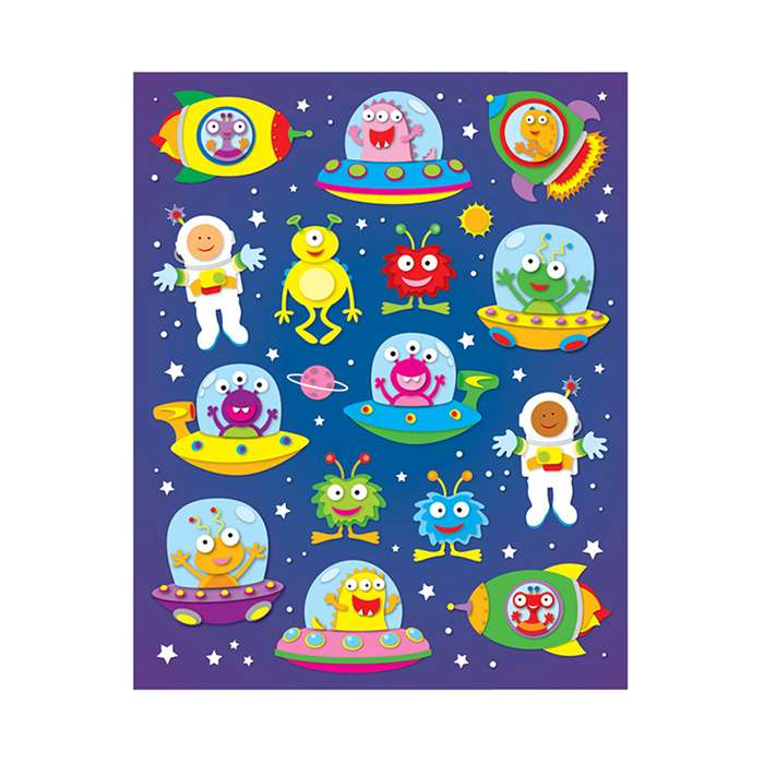 Out Of This World Shape Stickers 90Pk By Carson Dellosa