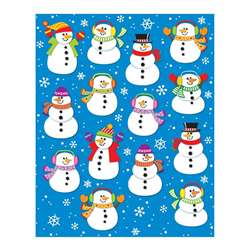 Snowmen Shape Stickers 84Pk By Carson Dellosa