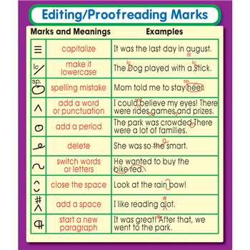 Editing Proofreading Marks Stickers By Carson Dellosa