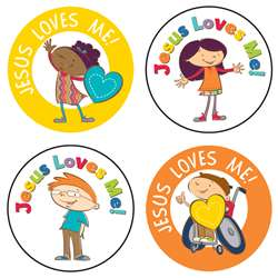 Jesus Loves Me Stickers 72 Pc, CD-168160