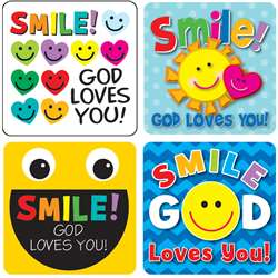 Smile God Loves You Stickers, CD-168167