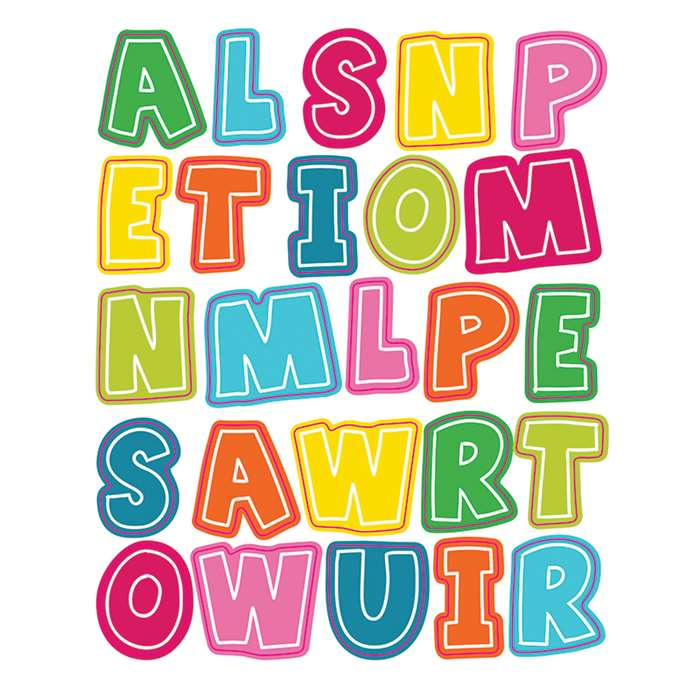 School Pop Alphabet Uppercase Shape Stickers, CD-168204