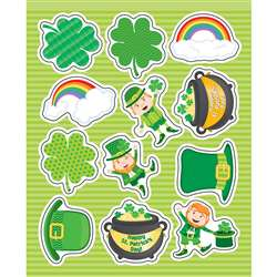 St Patricks Shape Stickers Gr Pk-5, CD-168224