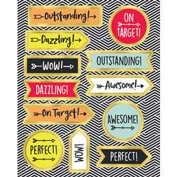 Aim High Motivator Stickers Gr Pk-5 Shape, CD-168248