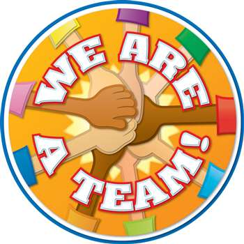 We Are A Team Two Sided Decorations By Carson Dellosa
