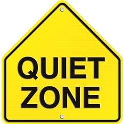 Quiet Zone Two Sided Decorations By Carson Dellosa