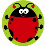 Ladybug Two Sided Decorations By Carson Dellosa