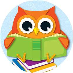 Reading Owl Two Sided Decorations By Carson Dellosa