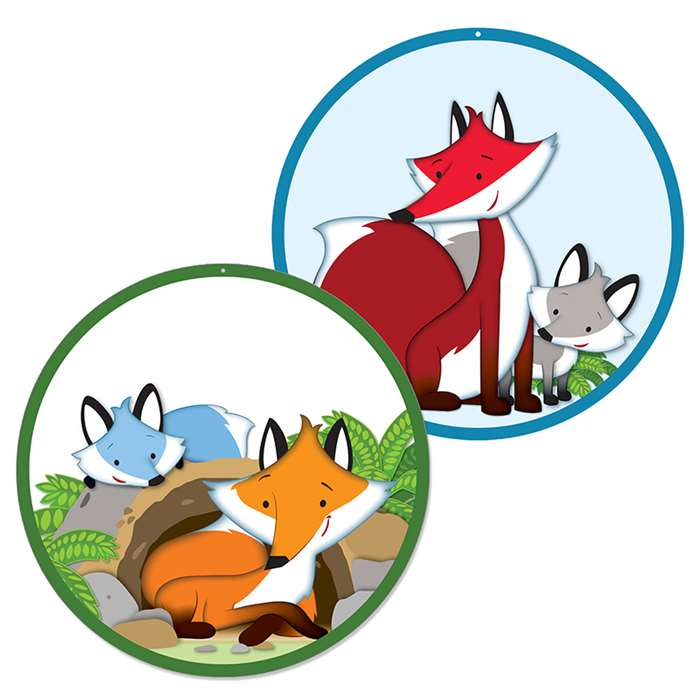 Playful Foxes Two Sided Decorations Gr Pk-5, CD-188061