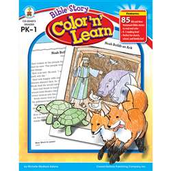 Bible Story Color N Learn By Carson Dellosa