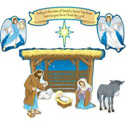 Nativity Bulletin Board Set By Carson Dellosa