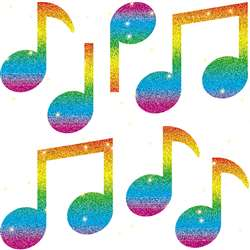 Dazzle Stickers Music Notes 105-Pk By Carson Dellosa