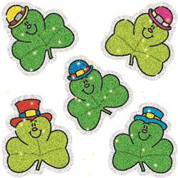Dazzle Stickers Shamrocks 75-Pk Acid & Lignin Free By Carson Dellosa
