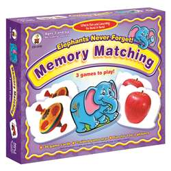 Elephants Never Forget Memory Matching Ages 3+ By Carson Dellosa