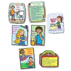 Hygiene Bulletin Board Set Kid-Drawn By Carson Dellosa