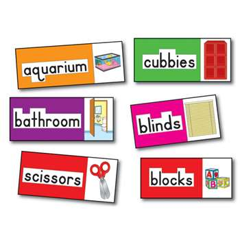 Bb Set Print-Rich Classroom Labels 56 Illustrated Word Cards By Carson Dellosa