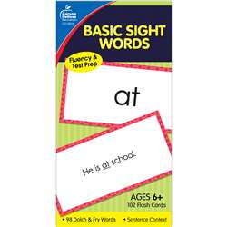 Flash Cards Basic Sight Words 6 X 3 By Carson Dellosa