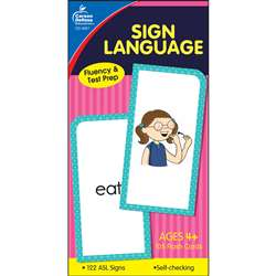 Flash Cards Sign Language By Carson Dellosa