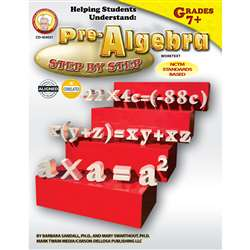 Helping Students Understand Algebra Pre-Algebra 7& Up By Carson Dellosa
