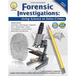 Forensic Investigations Activity Book Gr 4-8 By Carson Dellosa