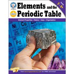 Elements And The Periodic Table Gr 5-8 By Carson Dellosa