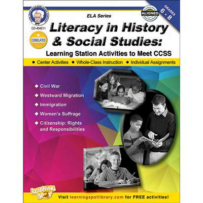 Shop Literacy In History & Social Studies Book Gr 6-8 - Cd-404211 By Carson Dellosa