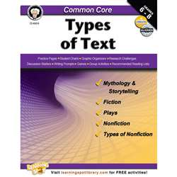 Shop Gr 6-8 Common Core Types Of Text Book - Cd-404218 By Carson Dellosa
