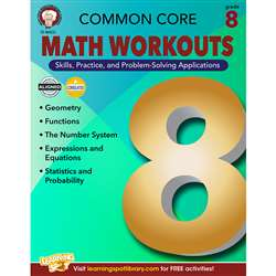 Shop Gr 8 Common Core Math Workouts Book - Cd-404222 By Carson Dellosa
