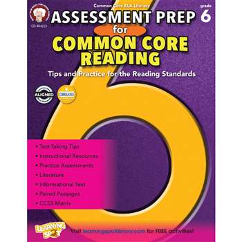 Gr 6 Assessment Prep For Common Core Reading, CD-404223