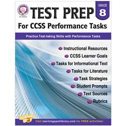 Gr 8 Test Prep For Ccss Performance Tasks, CD-404231