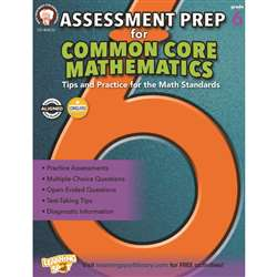 Gr 6 Assessment Prep For Common Core Mathematics, CD-404232