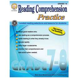 Gr 7-8 Reading Comp Practice Book, CD-404257