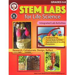 Stem Labs Life Science Book Gr 6-8, CD-404261