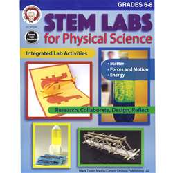 Stem Lab Physical Science Bk Gr 6-8, CD-404262