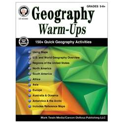 Geography Warm Ups Book Gr5-8, CD-404263