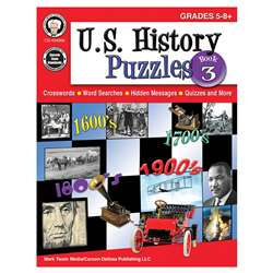 Us History Puzzles Book 3 Gr 5-8, CD-404266